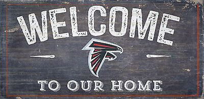 Atlanta Falcons Welcome to our Home Wood Sign - 12