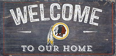 Washington Redskins Welcome to our Home Wood Sign  NEW 12