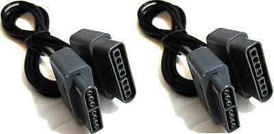 2X  SNES CONTROLLER EXTENSION CABLE FOR SUPER NINTENDO FAMICOM CONSOLE 6 FT LONG