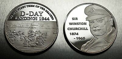 Superb Collectable WINSTON CHURCHILL WW2 D-DAY LANDINGS Commemorative NEW