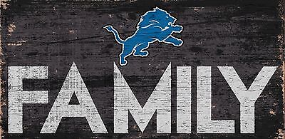 Detroit Lions FAMILY Football Wood Sign - NEW 12