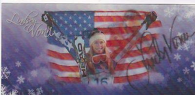 Lindsey Vonn Autographed Olympic Usa Skiing 8 X4  3D Motion Photo Card W Coa