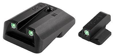 Truglo Tritium Night Sight Set White/Green Front & Rear S&W M&P Shield - (Front Sight Set)