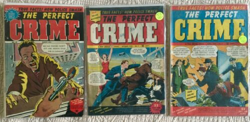 Golden Age Lot/3 PERFECT CRIME #2 VG+(1950)  5 VG+ (1950) 32 VG/VG+(1953)