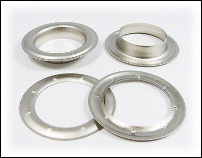 "2pc.  Large #12 (2.5"" Wide) Satin Silver Metal Grommets with Washers 32-28-01 on Rummage"