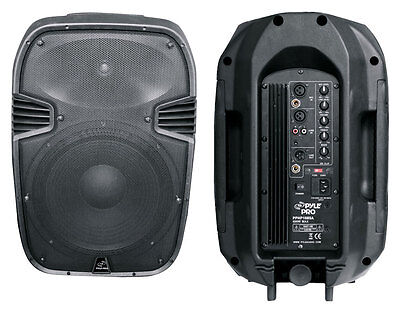 Powered Portable Amplified 10 Inch Guitar Home Audio Speaker Xlr 1/4 Rca Mixer