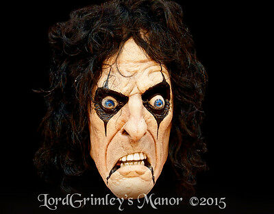 Officially Licensed Alice Cooper Halloween Mask Rock Vincent Furnier