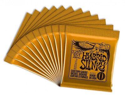 ERNIEBALL Cuerdas Guitarra Eléctrica Ernie Ball Híbrido Slinky 12 Piezas Japón