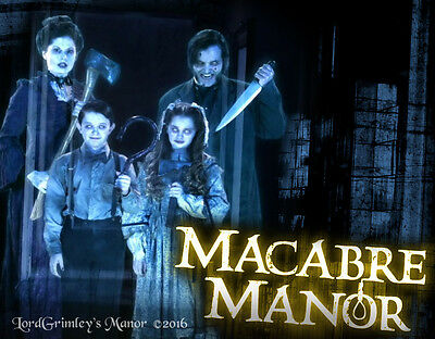 Macabre Manor DVD Halloween Prop Special FX Projection FX Horror Ghosts Ghouls - Halloween Ghost Projection Dvd