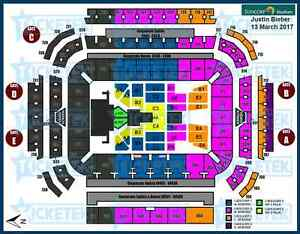 2 Tickets Justin Bieber 13/03/2017 Suncorp B Reserve Bray Park Pine Rivers Area Preview