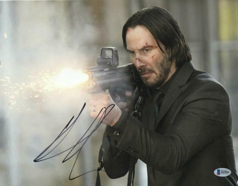 KEANU REEVES SIGNED 11X14 PHOTO JOHN WICK AUTHENTIC AUTOGRAPH BECKETT COA A