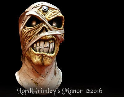 Officially Licensed Iron Maiden Eddie Powerslave Heavy Metal Halloween Mask (Iron Maiden Halloween)