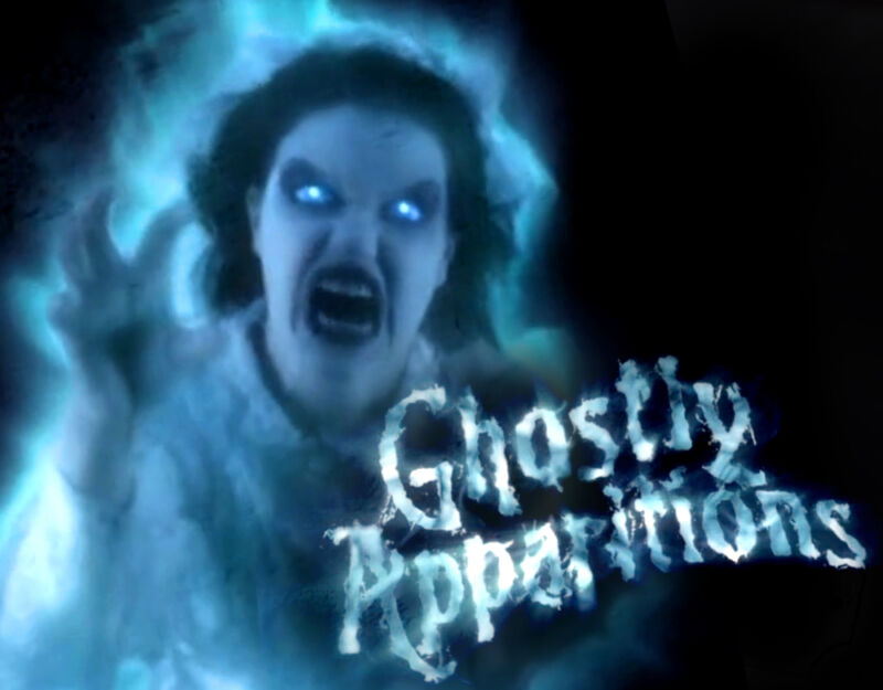 Ghostly Apparitions DVD Halloween Prop Special FX Horror Projector Ghosts Ghouls