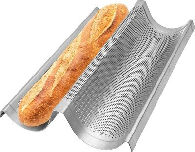 "Non Stick Perforated Baguette Pan (Kitchenaid non Stick Perforated Double Baguette Loaf baking pan - 16"")"