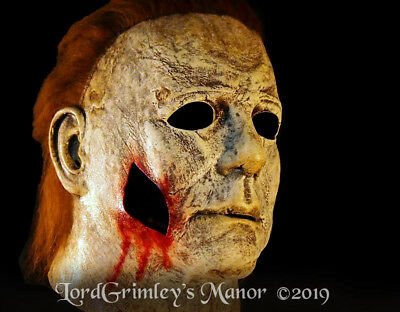 Officially Licensed Michael Myers Halloween H18 w/Gunshot Wound Mask Horror  - Gunshot Wound Halloween