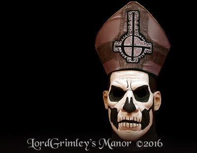 Officially Licensed Ghost Papa II Emeritus Halloween Mask W/Hat Heavy Metal Band - Heavy Metal Band Halloween