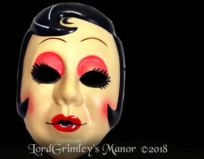 NEW 2018 Licensed The Strangers Play at Night Pin Up Girl Halloween Mask Horror - The Strangers Mask Halloween