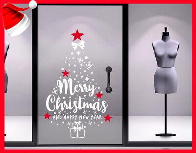 Adesivi vetrine addobbi natale adesivo albero vetrofanie decorazione natalizia