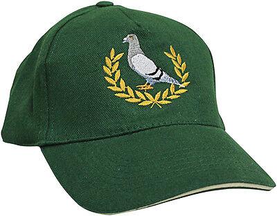 Berretto da baseball Cappello Tappo verde con ricamo Piccione da corsa Grigio