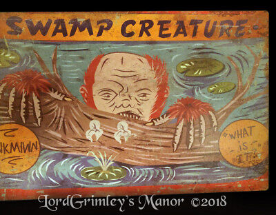 All Halloween Creatures (New Metal All Weather Sideshow Swamp Creature Halloween Sign Decoration)