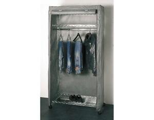 Housse de rangement pour penderie garde robe en tissu gris - Housse pour armoire penderie ...