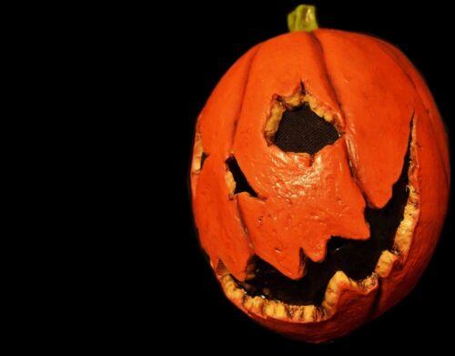 Last Night Pumpkin Halloween Mask Horror Scary Creepy Haunter Jack o Lantern