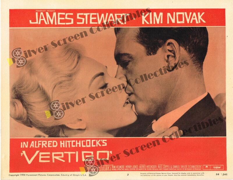 """Vertigo (1958) - Original U.S. Lobby Card (11"""" x 14"""")"""