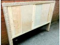 Rustic style double headboard ideal project to upcycle