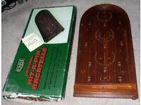 Jaques Original Hit A Pin Bagatelle Traditional Wooden Game Boxed