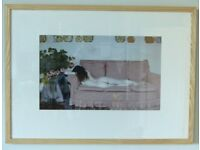 "Original signed and professionally framed picture ""Lazy Afternoon"""