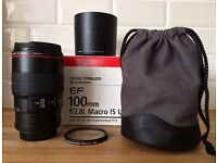 Canon EF 100mm f/2.8 L IS USM Macro in mint condition