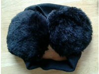 Black Ear Muffs (soft elastic band)
