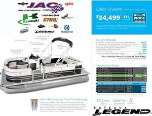 2016 Legend Boats Enjoy Cruising Mercury 25 EL **Premium package