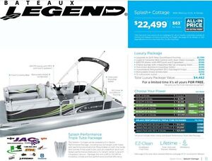 2016 Legend Boats Splash Plus Cottage Mercury 15 EL **Premium pa