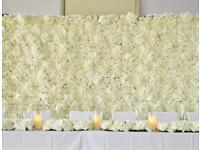 Flower Wall For Hire Ivory Flowerwall BESPOKE SERVICE