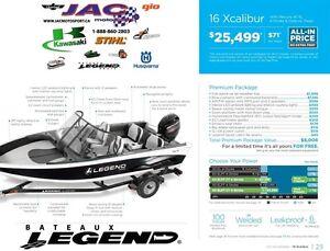 2016 legend boats 16 Xcalibur Mercury 40 EL **Premium package 6,