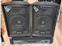 Skytec SL6 Passive DJ Speakers & Ekho RX800W Amp
