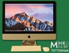 LATEST APPLE iMAC 21.5' SLIM QUAD CORE i5 @ 2.7Ghz 8GB RAM 1TB HDD MINKOS MACS TOTTENHAM WARRANTY