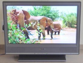"""Sony 20"""" LCD Digital Colour TV with remote and instructions."""