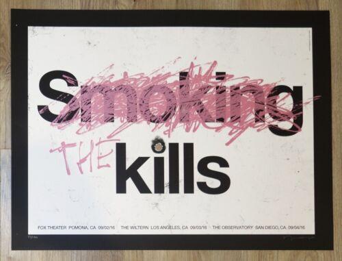 2016 The Kills - California Silkscreen Concert Poster s/n by Alan Hynes