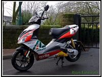 Modified Aprilia SR 50 R moped .. 70cc REG as a 50cc not runner.. italjet ect