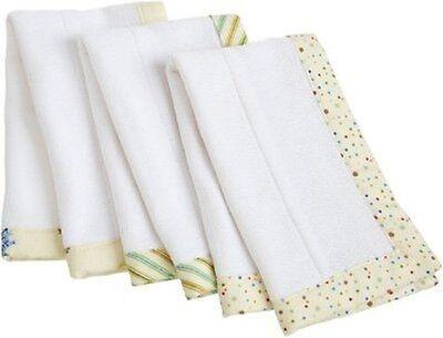 3 Pack Lap Pads - Carter's C150LAP Keep Me Dry Burp & Lap Pads Ecru 3 Pack