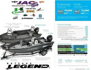 2016 Legend Boats 16 XGS Mercury 40 EL **Premium package 2,387$