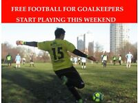 FREE FOOTBALL FOR GOALKEEPERS, JOIN 11 ASIDE FOOTBALL TEAM, JOIN LONDON TEAM