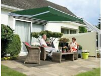 Patio Awning 2.5m - Plain Green - Manual