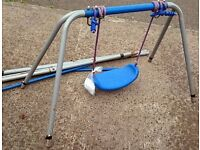 Full Size Garden Swing with Pegs in Good Condition