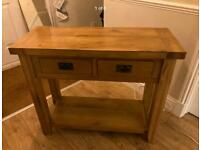 Solid Oak Sideboard / Console Table From Oak Furniture Land