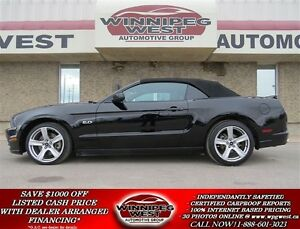 2013 Ford Mustang CONVERTIBLE GT 5.0 V8, LEATHER, SYNCH, SHAKKER