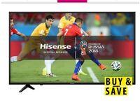 Hi sense 65 inch smart tv as new mint condition