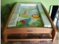 Mamas&papas Baby cot top wooden changer/changing rail